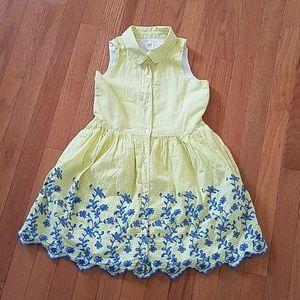 Girl's Gap sleeveless yellow shirt dress